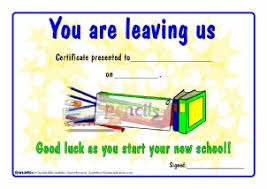 printable end of year leavers certificates for primary ks1
