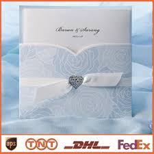 light blue wedding invitations cheap wedding invitation card light blue with ribbon card laser cut