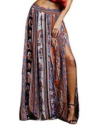 tribal dress womens boho tribal floral casual maxi skirt dress at