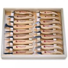 flexcut kn250 deluxe knife set for whittling u0026 wood carving