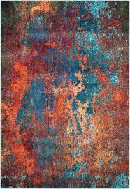 Modern Orange Rugs Modern Orange Rugs And Turquoise Teal At Rug Studio Throughout