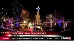 video richmond teen creates magical christmas light show kron4 com