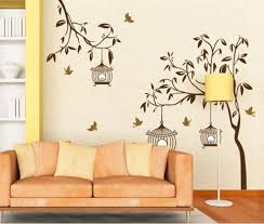 Buy Decals Design Tree With Birds And Cages Wall Sticker PVC - Wall design decals