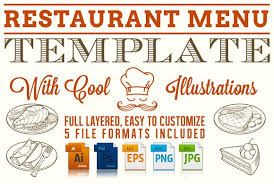 editable menu template editable restaurant menu template stationery templates