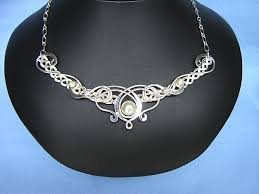 bridal necklace jewelry images Celtic bridal necklaces medieval pendants lotr jewelry elven JPG
