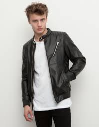 faux leather biker jacket jackets man pull bear egypt