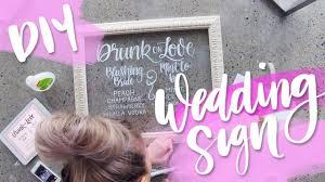 diy wedding signs diy wedding glass wedding sign