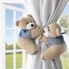 Curtain Tie Backs For Nursery Cute Teddy Bear Curtain Tie Backs 2pc Set Baby Nursery Light