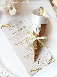 and white wedding invitations scroll wedding invitation gold and ivory violet handmade