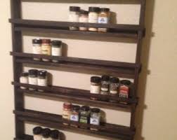 Wooden Wall Mount Spice Rack Wood Spice Rack Etsy