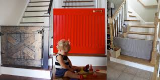 Baby Gate For Top Of Stairs With Banister And Wall 10 Diy Baby Gates For Stairs