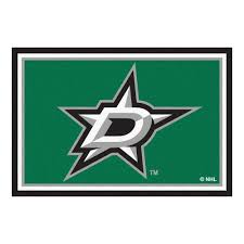 Nhl Area Rugs Fanmats Nhl Dallas Green 5 Ft X 8 Ft Indoor Area Rug 10644