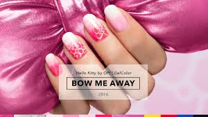 hello bow opi gelcolor tutorial hello collection bow me away