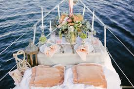 nautical weddings be inspired by a nautical wedding shoot on a sailboat inside