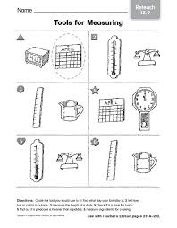tools for measuring reteach 3rd 4th grade worksheet lesson planet