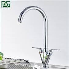 2017 flg factory direct sale kitchen faucet chrome cast dual