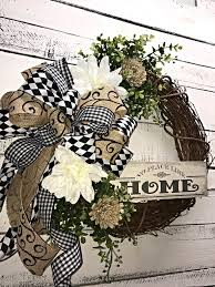 Decorative Wreaths For Home by Front Door Wreath All Season Wreath Everyday Wreath Wall Wreath