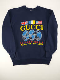 Gucci Clothes For Baby Boy Vintage Gucci Internationale Logo Sweatshirt 80s Hip Hop Old