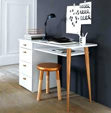 mini bureau ordinateur petit bureau petit bureau en chane et acier noir petit bureau