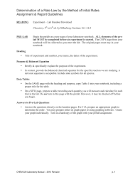 determination of a rate law by the method of initial rates