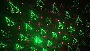 1byone magical laser light with green christmas tree and red star