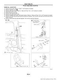 nissan patrol 1998 y61 5 g restraint system workshop manual