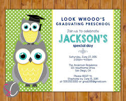 graduation invite owl look whoo u0027s preschool graduation kindergarten party