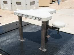 precast concrete shooting benches