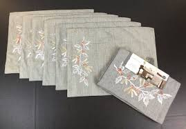 Holiday Table Runners by Threshold Silver Holiday Table Runner 6 Placemats Set Nwt