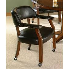 Dining Chair On Wheels Dining Chairs With Wheels  Lynx Dining - Dining room chairs with rollers