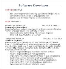 Objective In Resume For Experienced Software Engineer Free by Resume Java Developer Objective Resume Ixiplay Free Resume Samples