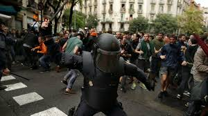 amid scenes of chaos and violence catalonia independence vote is