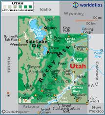 america map utah utah large color map