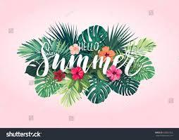 summer tropical vector design banner flyer stock vector 638021923