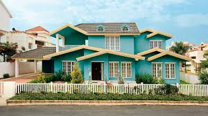 beautiful fence painting combination and house exterior color
