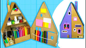 Diy Desk Organizer Ideas Diy Desk Organizer Make A Pencil House From Cardboard Box