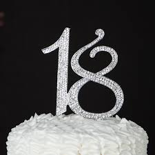bling cake toppers 18 cake topper 18th birthday party supplies