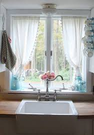 Kitchen Curtains End Of Summer Kitchen Window Summer Kitchen Window And Kitchens