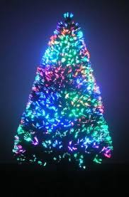 3 pre lit fiber optic artificial tree with white