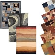 Modern Stripe Rug Contemporary Geometric Area Rug Modern Stripes Squares Carpet