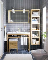 Free Standing Wooden Bathroom Furniture Handmade Oak Unfinished Bathroom Storage Idea With Freestanding