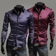 2017 new men shirts men emulation silk shiny leisure men u0027s long