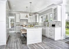 Hardwood Floor Kitchen by Unique Grey Hardwood Floor Ideas Contemporary Kitchen Design White