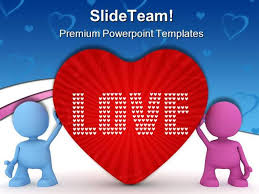 love peace metaphor powerpoint templates and powerpoint background