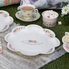 Shabby Chic Plates by 8 X Vintage Style Tea Party Paper Plates Shabby Chic Flower Buffet