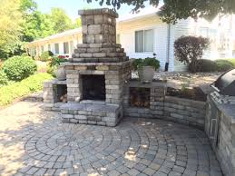 photos of fire pits built by paramount landscaping