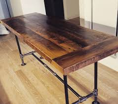 bar height reclaimed wood dining table by sunscout on etsy small