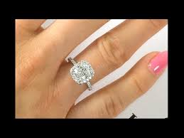 2 carat halo engagement ring 2 carat cushion halo ring