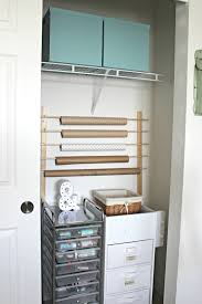 Paper Organizer For Wall Diy Wrapping Paper Storage Delightfully Noted