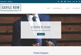 savile row free ecommerce wordpress theme by template express